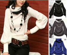 New Women's Casual Knit Top Sweater Batwing Long Sleeve Winter Blouse T-Shirts