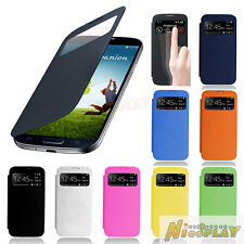 Smart Window Sleep View Leather Case Flip Back Cover For Samsung Galaxy S4 i9500