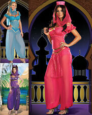 Sexy Jasmine Aladdin Princess Belly Dance Arabian Halloween Costume Fancy Dress