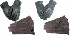 LADIES GENTS MENS WOMENS REAL LEATHER QUALITY GLOVES.