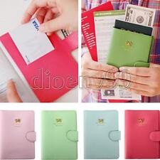 Bowknot Crown Passport Holder Travel Ticket Case Protect Cover Organizer Wallet