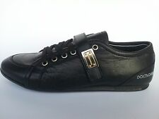 DOLCE GABBANA MEN'S SHOES, BLACK LEATHER