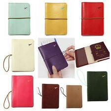 Travel Leather Bag Wallet Document Organiser Passport Tickets Card Case Holder