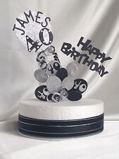 *BALLOON BUNCHES* WITH RIBBONS* CAKE TOPPERS ANY NAME/ANY COLOUR & AGES 1 - 100