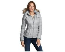 NWT Eddie Bauer High Pass Down Jacket Coat Goose Down Gray Grey Retail $200