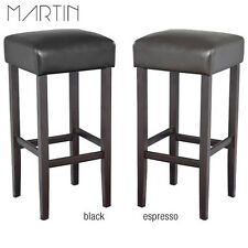 """NEW! MODERN WOOD/LEATHER BARSTOOL - 32"""" CONTEMPORARY BAR/COUNTER STOOL - PIPER"""
