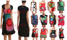 New Hot Desigual Women Summer Dress Spain Fashion Brand Dress Large 12 Colors