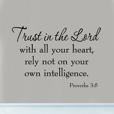 Trust in the Lord with All Your Heart Proverbs 3:5 Bible Quote Wall Art Decal