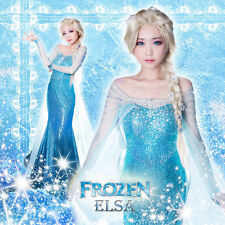 EZH Princess Frozen Queen Elsa Costume Cosplay Adult SIZE S/M/L Tulle Elsa Dress