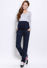 LADIES MATERNITY JEANS PANTS FOR PREGNANT WOMEN PLUS SIZE PREGNANCY CLOTHES BLUE