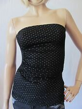 New GUESS Womens Black Casual Club Embellished Stud Lilly Strapless Tube Top $59