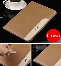 New real Leather Smart Case Stand Cover for ipad2/3/4 ipad5/air ipadmini