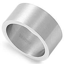 Stainless Steel Elegant Romantic Classic Style Wedding Love Matte Ring Size 7-16