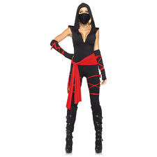 Sexy 5pc Deadly Ninja Samurai Stealth Women's Adult Halloween Costume New
