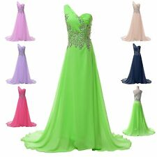 Clearance Long Chiffon Evening Formal Bridesmaid Ball Gown Prom Party SEXY Dress