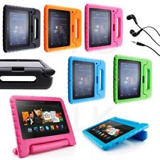 """Kids Safe Proof Foam Case Cover For Kindle Fire HD 7"""" HDX  8.9 Stand + Earphone"""