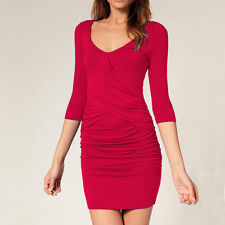 Fitted Badycon with Scooped neckline Mini Party Day Dress co9723 Fuchsia