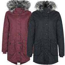 Bench Wolfish 2 Parka Damen Winterjacke Mantel Freizeit Kapuze Fell NEU