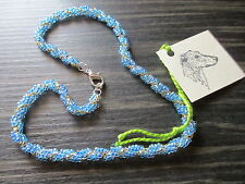 BNWT PRETTY BEADED NECKLACES FOR HOUNDS DOGS 14'' & 15'' - FOR GREYHOUND RESCUE