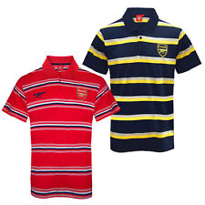 Arsenal FC Official Football Gift Mens Striped Polo Shirt (RRP £29.99!)