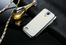 Metal Effect Snap on Hard Case Cover for Samsung Galaxy S4 Mini