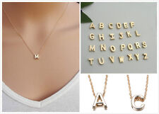 Hot Women Letter Name Initial Chain Pendant Fashion Necklace Gold Plated Gifts