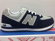 BOYS & WOMENS NEW BALANCE KL574NWG NAVY SILVER SNEAKERS SUEDE SHOES CLASSICS