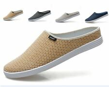 Mens Woven Closed Toe Slides Slippers Casual Breathable Mesh Sandal Shoes