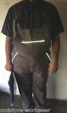 Bib and Brace Overalls Painters Decorators Coveralls Dungarees Reflective Strip