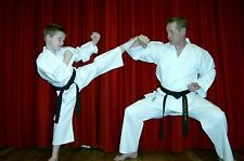 KARATE SUIT & WHITE BELT KIDS 110cms -150cms CHEAPEST ON E BAY - BY MASUTA- NEW!