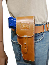 New Barsony Tan Leather Flap Gun Holster for CZ EAA FEG Full Size 9mm 40 45