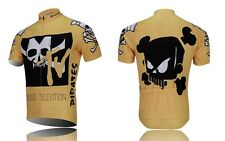 New Cycling Jersey Top Bike Bicycle Clothing Short Sleeve Suite Quick Dry Yellow