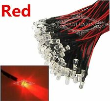 Wholesale 3mm 12V Prewired LED 20cm Bright RED Lamp Light Bulbs Pre-wired LEDs