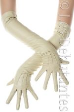 NATURAL TAN LEATHER OPERA EVENING GLOVES LES DEBUTANTES CUSTOM MADE