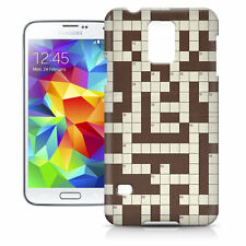 Crossword Puzzle Phone Hard Shell Case for Samsung Galaxy S3 S4 S5 Mini Ace Ne..