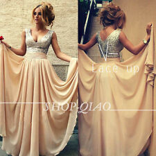 New Long Chiffon Evening Formal Party Ball Gown Prom Bridesmaid Dress Wedding