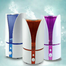 2.5L LED Light Cylindrical Humidifier Atomizer Fresh Air Purifier UK