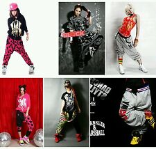 Mens & Womens Printed Pants/Trousers, Dance Hip Hop, Rap-Street Crotch Collapsed