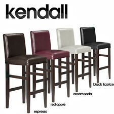 "NEW! MODERN WOOD/LEATHER BARSTOOL - 29"" CONTEMPORARY BAR/COUNTER STOOL - KENDALL"