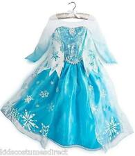 Disney Frozen Elsa Costume Fancy Dress Girls Age 3 4 5 6 7 8 Party Dress blue