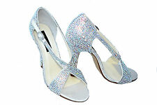 SALE!! AB white Bridal Wedding Crystal Peep-toe high heel sandal using Swarovski