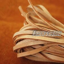 100% Real Flat Leather Cord - 5MM*2MM String Lace Thong Jewellery High Quality