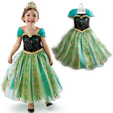 Chic Fairy Kids Frozen Princess Anna Cosplay Gauze Costume Fancy Dress Festival