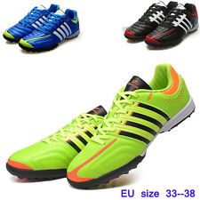 Kids Boy Soccer Shoes Turf Soccer Cleats Synthetic Leather Youth Sports Shoe