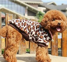 2014 pet dog cat clothes puppy dog clothing leopard coat for dog apparel 5 sizes