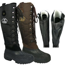 Womens Outdoor Walking Rain Waterproof Wellington Yard Fleece Lined Boots 3-11