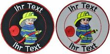 fire department patch with your text 8cm embroidered logo (712-1)