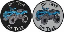 Quad ATV patch with your text 8cm embroidered logo (715-1)