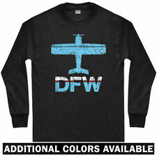 Fly Dallas DFW Airport Long Sleeve T-shirt - Fort Worth Texas - LS Men / Youth