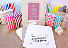 Personalised Engagement Sweet Bags VINTAGE RETRO SHABBY Candy Cart Wedding Favou